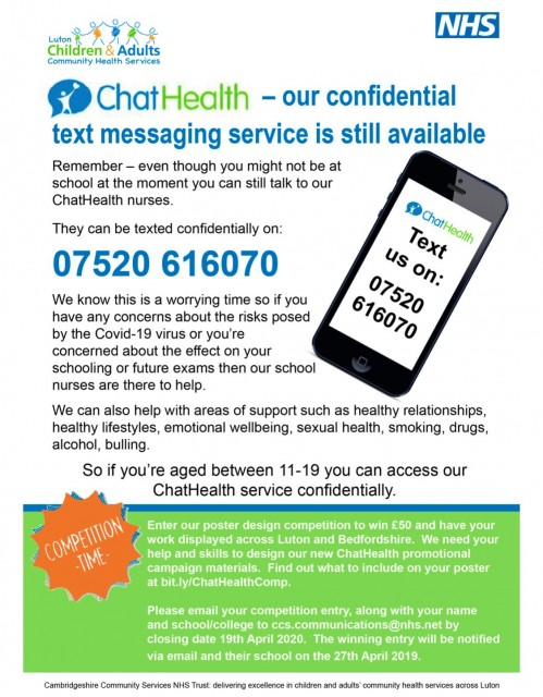 Luton Community NHS ChatHealth Service